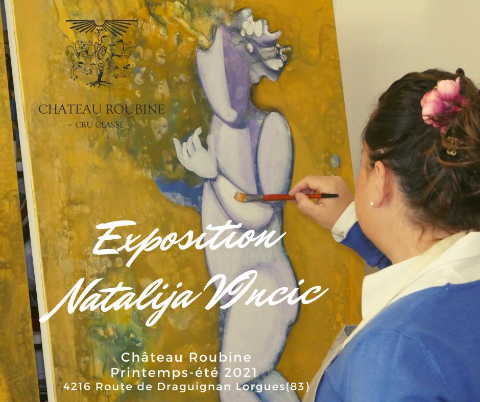 exposition natalija vincic art chateau roubine