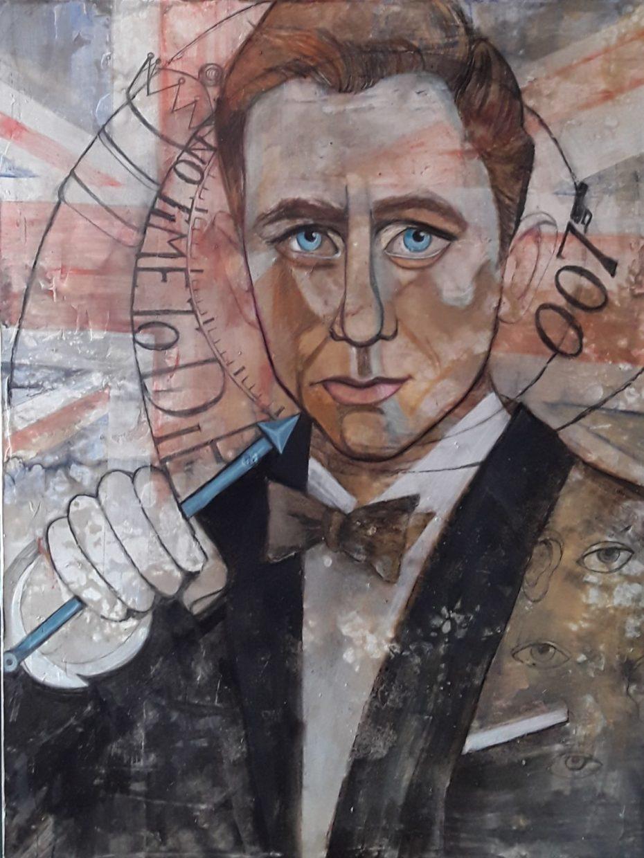 No time to die - James Bond - Painting by Natalija Vincic